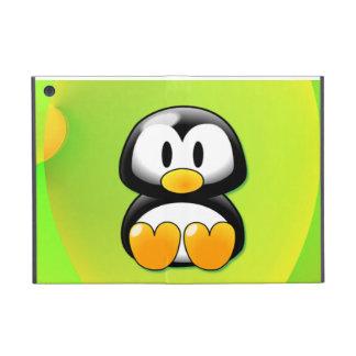 Pingüino adorable del dibujo animado que se sienta iPad mini fundas