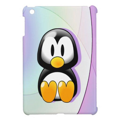 Pingüino adorable iPad mini carcasas