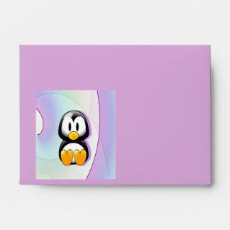 Pingüino adorable sobre