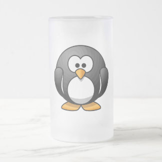 Pingüino adorable taza de cristal
