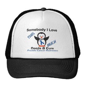 Pingüino alguien conciencia del cáncer de próstata gorras