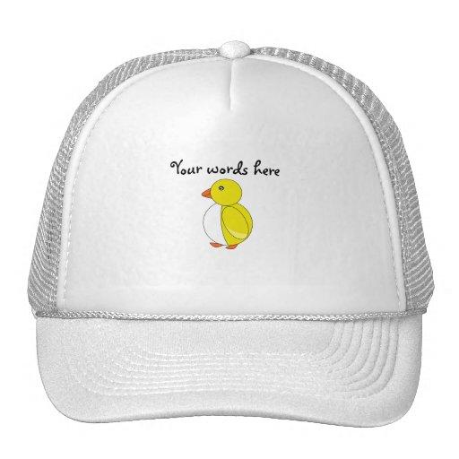 Pingüino amarillo gorros bordados