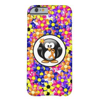Pingüino anaranjado de la cinta funda para iPhone 6 barely there