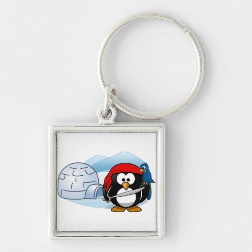Pingüino antártico de Pitate Llaveros Personalizados