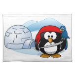 Pingüino antártico de Pitate Manteles Individuales