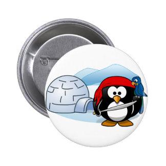 Pingüino antártico de Pitate Pin Redondo De 2 Pulgadas