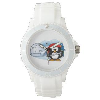 Pingüino antártico de Pitate Relojes