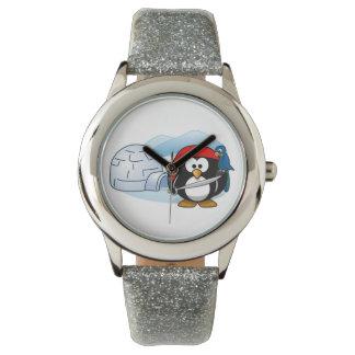 Pingüino antártico de Pitate Relojes De Mano