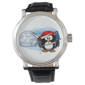 Pingüino antártico de Pitate Relojes De Pulsera