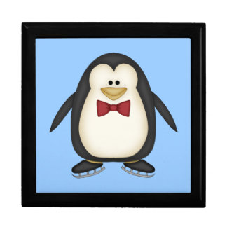 Pingüino apuesto joyero cuadrado grande