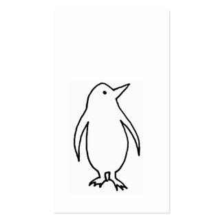 Pingüino - arte fresco simple del dibujo lineal de tarjeta personal