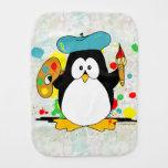 Pingüino artístico paños de bebé