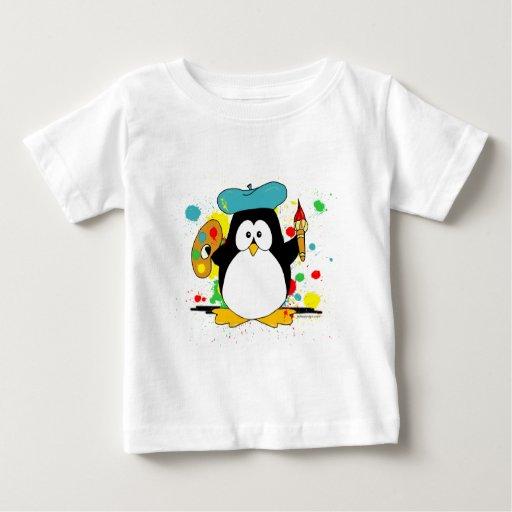 Pingüino artístico poleras