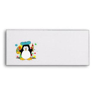 Pingüino artístico sobre