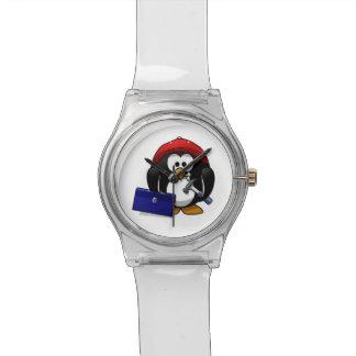 Pingüino astuto del dibujo animado relojes de mano