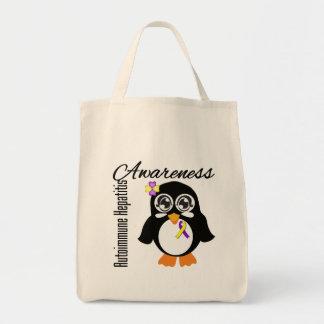 Pingüino autoinmune de la conciencia de la bolsa tela para la compra