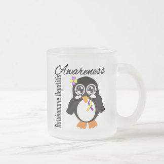 Pingüino autoinmune de la conciencia de la taza cristal mate