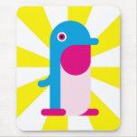 Pingüino azul alfombrillas de raton