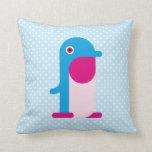 Pingüino azul almohadas