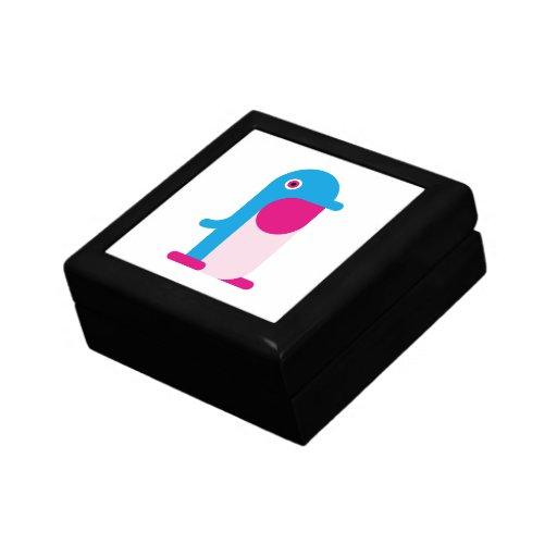 Pingüino azul cajas de joyas
