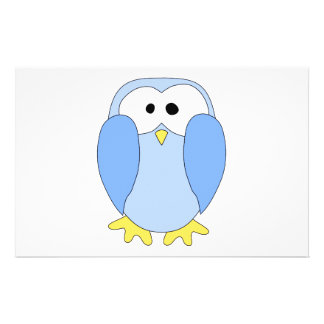 Pingüino azul claro lindo. Historieta del pingüino Tarjetón