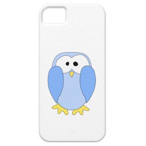 Pingüino azul claro lindo. Historieta del pingüino iPhone 5 Case-Mate Coberturas