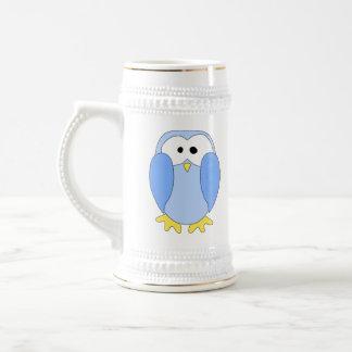 Pingüino azul claro lindo. Historieta del pingüino Taza De Café