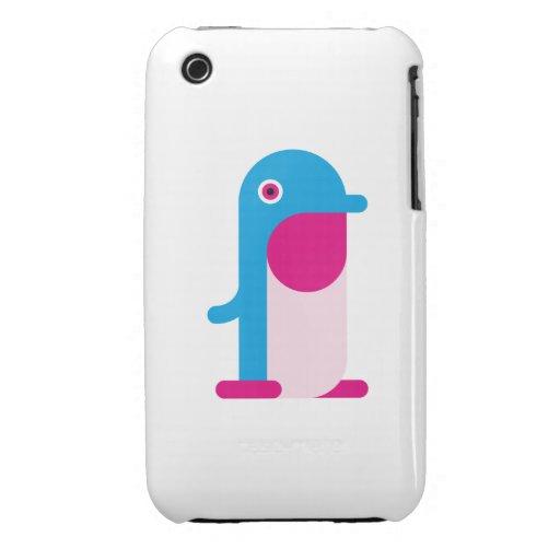 Pingüino azul iPhone 3 cárcasa