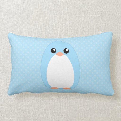 Pingüino azul lindo almohada