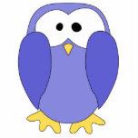 Pingüino azul lindo. Historieta del pingüino Esculturas Fotográficas