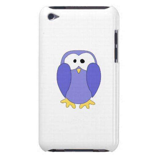 Pingüino azul lindo. Historieta del pingüino iPod Touch Protector