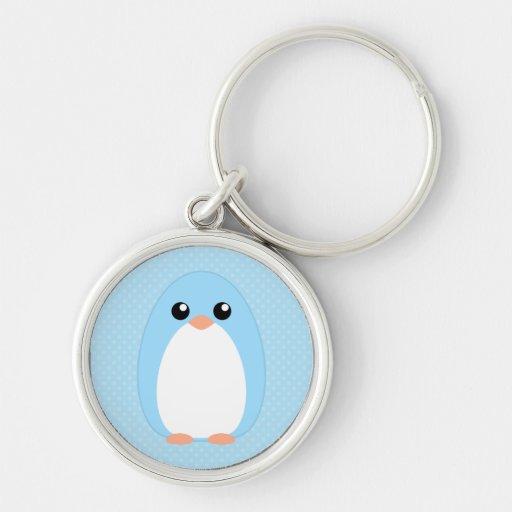 Pingüino azul lindo llavero personalizado