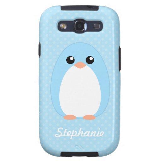 Pingüino azul lindo samsung galaxy SIII funda