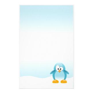 Pingüino azul papelería personalizada