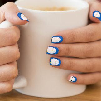 Pingüino azul arte para uñas
