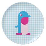 Pingüino azul platos para fiestas