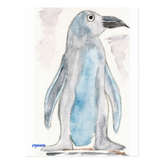 Pingüino azul postales
