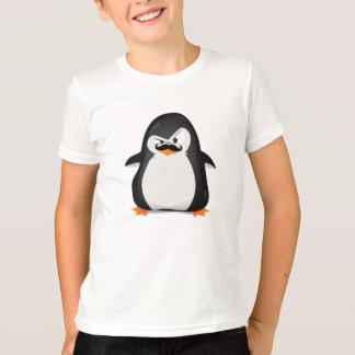 Pingüino blanco negro lindo y bigote divertido remera