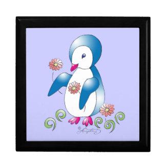 Pingüino bonito caja de regalo