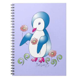 Pingüino bonito libreta