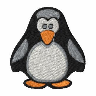 Pingüino bordado en el polo