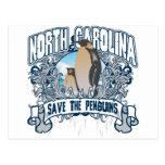 Pingüino Carolina del Norte Postal