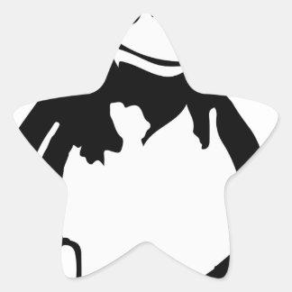 Pingüino Che del tux de Linux Pegatina En Forma De Estrella