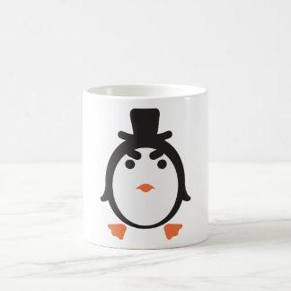 Pingüino con cilindro taza clásica