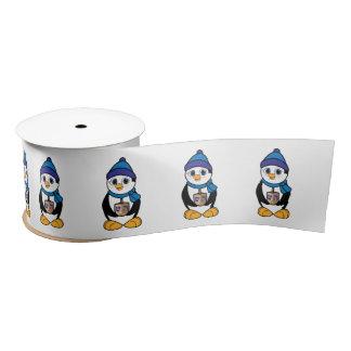 Pingüino con Dreidel Jánuca 3 adentro Lazo De Raso