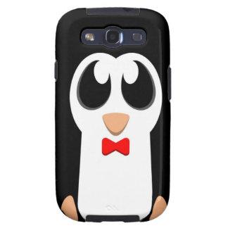 Pingüino con la pajarita roja galaxy SIII coberturas