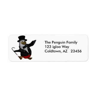 Pingüino conciencia día dirección ~ 20 de enero etiqueta de remitente