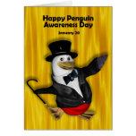 Pingüino conciencia día tarjeta ~ 20 de enero