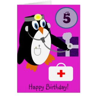 Pingüino de Anivalley Polly Tarjeta De Felicitación