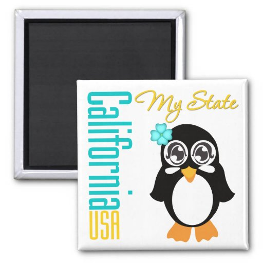 Pingüino de California los E.E.U.U. Imanes Para Frigoríficos